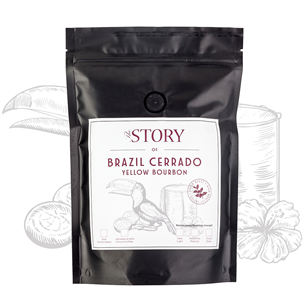 Kafijas pupiņas Brazil Cerrado Yellow Bourbon 250g, The Story