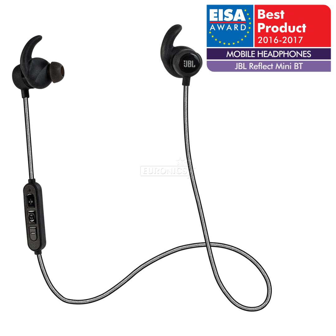 headphones reflect mini bluetooth jbl jblrefminibtblk. Black Bedroom Furniture Sets. Home Design Ideas