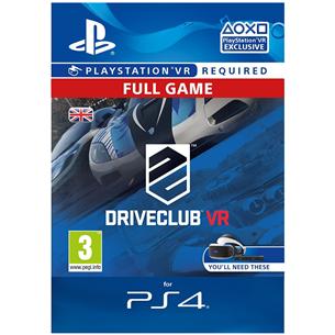 Spēle priekš PlayStation 4 VR Driveclub