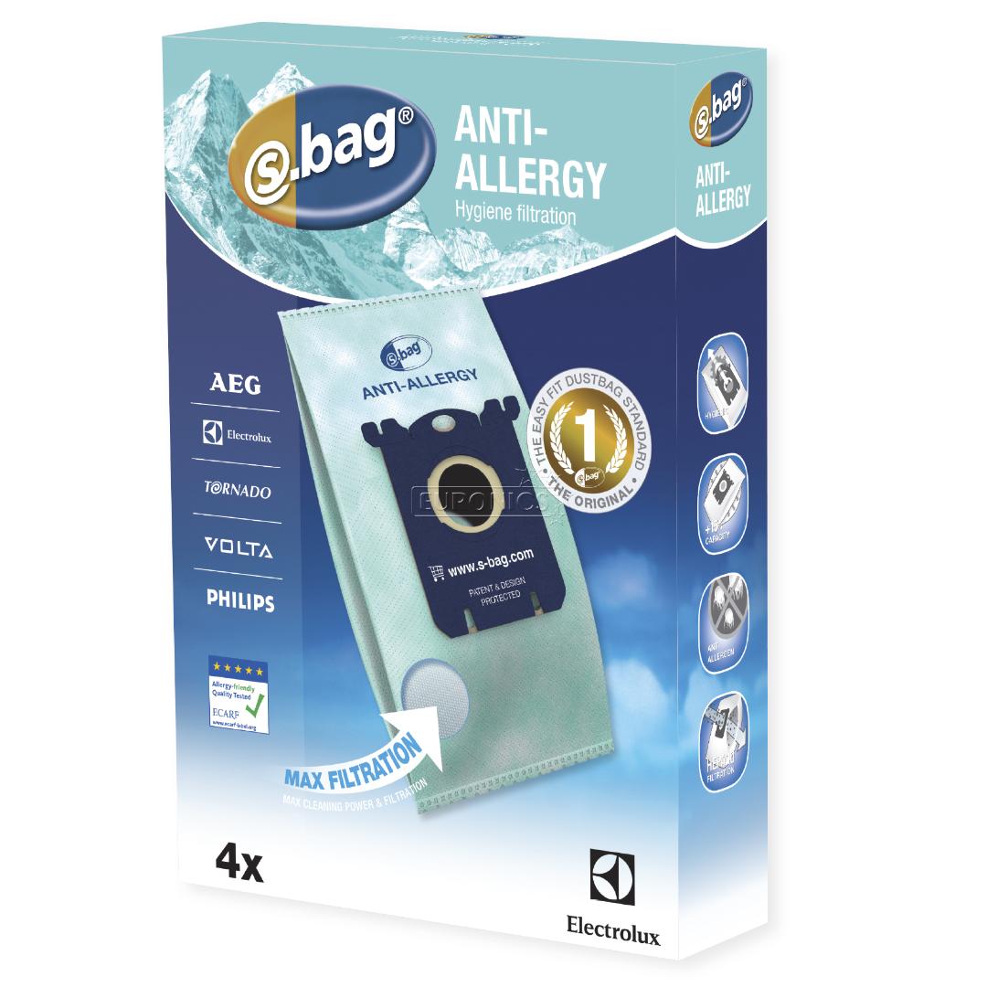 dust bags electrolux s bag hygiene anti allergy 4 pcs e206b. Black Bedroom Furniture Sets. Home Design Ideas