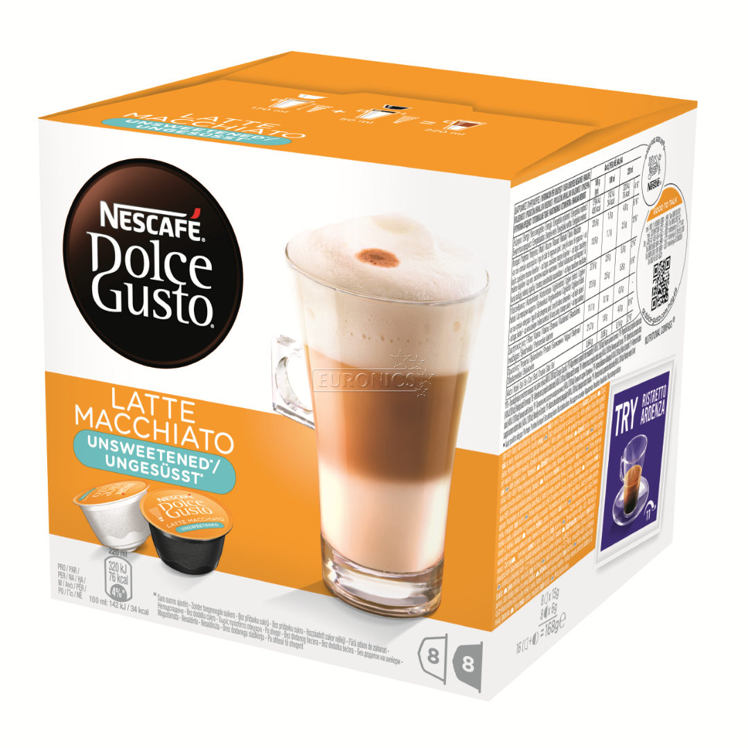 coffee capsules nescafe dolce gusto latte macchiato 7613031615704. Black Bedroom Furniture Sets. Home Design Ideas