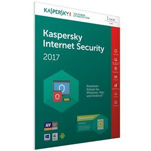 Kaspersky Internet Security 2017 atjaunošanas kods 1PC / 1gads