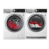 Veļas mazgājamā mašīna + veļas žāvētājs, AEG / 1400 apgr./min.