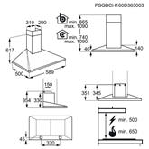 Tvaika nosūcējs, Electrolux / 603 m³/h