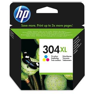 Tintes kārtridžs 304XL, HP / trīs krāsas