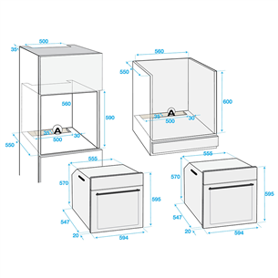 Интегрируемый духовой шкаф Beko (каталитическая очистка)