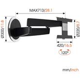 Настенное крепление для OLED-телевизора Vogels NEXT 7346 (40-65)