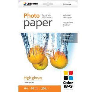 Fotopapīrs A4, ColorWay / 200g/m2, 20lpp