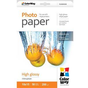 Fotopapīrs 10x15, ColorWay / 200 g/m2, 50lpp