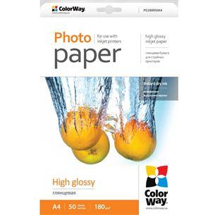 Fotopapīrs A4, ColorWay / 180g/m2, 50lpp