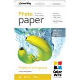 Foto papīrs Premium semi-glossy, ColorWay / 255 g/m2, A4, 20 loksnes