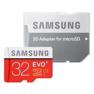 Atmiņas karte Micro SDHC EVO+, Samsung (32 GB) + adapteris MB-MC32GA/EU