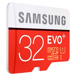 Atmiņas karte Micro SDHC EVO+, Samsung (32 GB) + adapteris