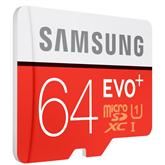Micro SDXC memory card + adapter Samsung EVO+ (64 GB)