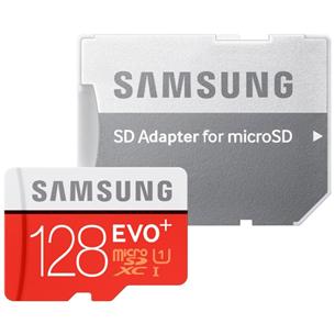 Atmiņas karte Micro SDXC EVO+, Samsung (128 GB) + adapteris