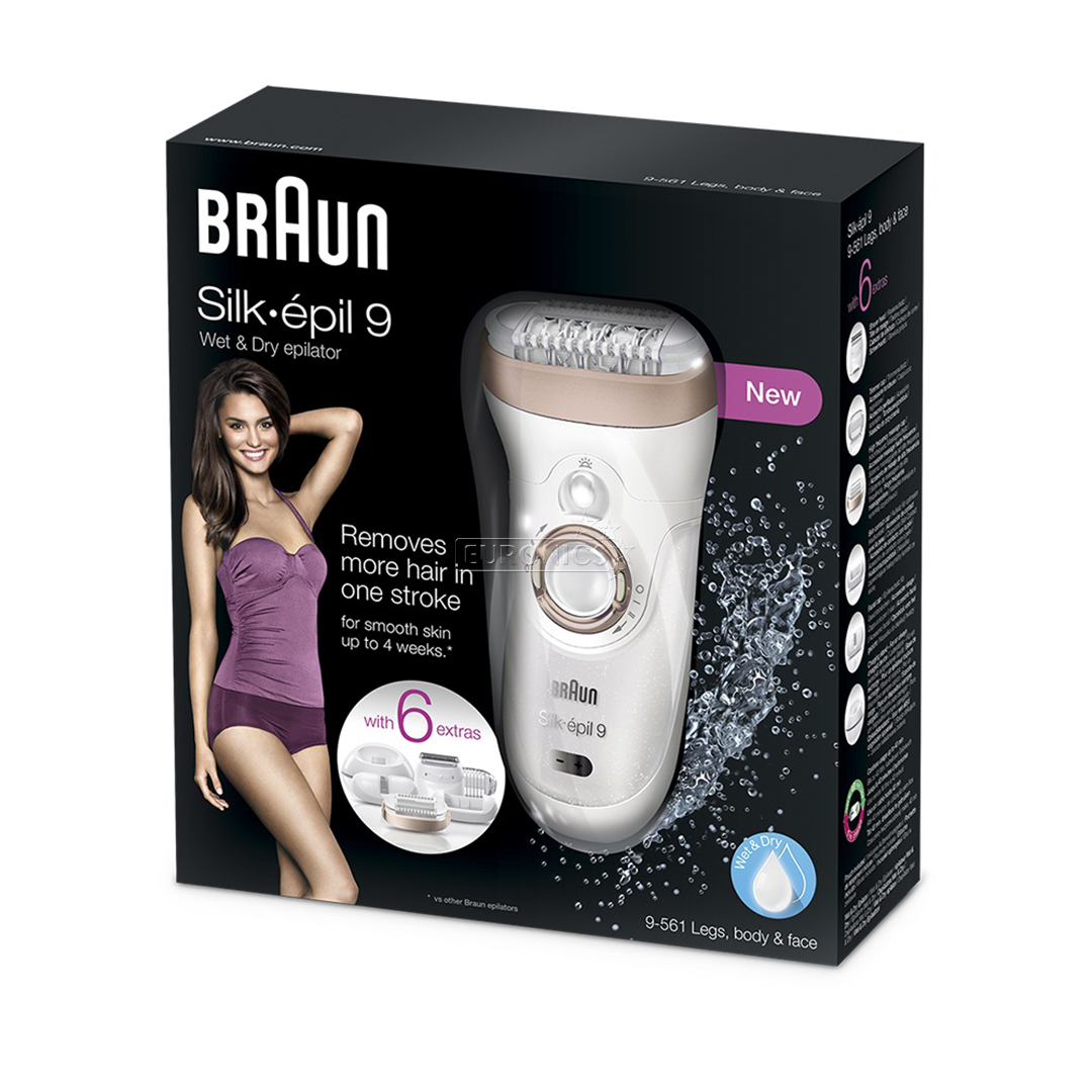 epilator silk pil 9 9 561 wet dry braun se9561bronze. Black Bedroom Furniture Sets. Home Design Ideas
