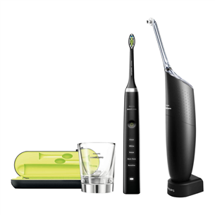 Electric toothbrush Diamond Clean + Interdental cleaner AirFloss Ultra, Philips