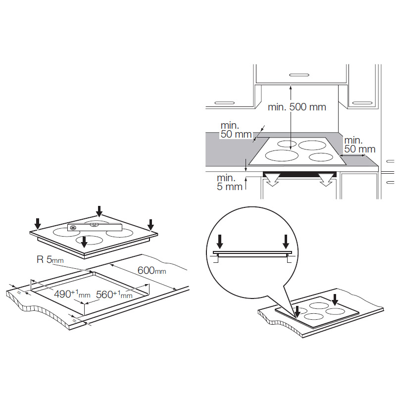 Built In Induction Hob Electrolux Ehd60020p