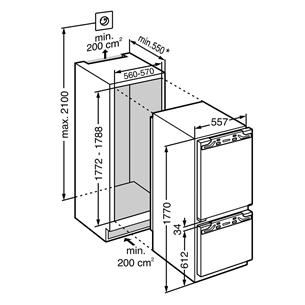 Интегрируемый холодильник Premium BioFresh, Liebherr (177,2 см)