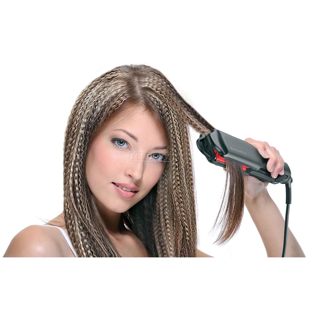 Укладка щипцами гофре на короткие волосы