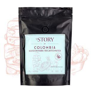Kafijas pupiņas Colombia Decaf 250g, The Story