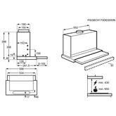 Iebūvējams tvaika nosūcējs, AEG / 537 m³/h