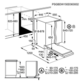 Iebūvējama trauku mazgājamā mašīna, AEG / 9 komplektiem