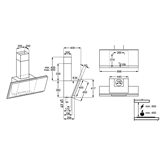 Tvaika nosūcējs, AEG (700m³/h)
