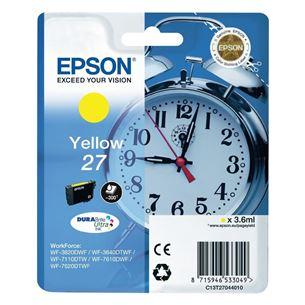 Tintes kārtridžs 27, Epson / dzeltena