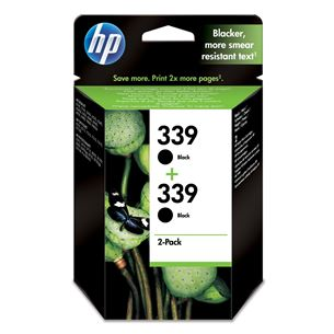 Tintes kārtridžs 339, HP / melna, 2 gab.