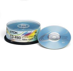 Diski CD-R 52x TDK / 25 gb.