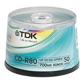 Диски CD-R 52x TDK / 50 шт.