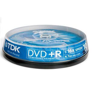 Diski DVD+R, TDK / 4,7GB