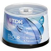 Diski DVD-R, TDK / 4,7GB / 50 gab