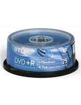 Диски DVD+R, TDK / 4,7GB / 25 шт