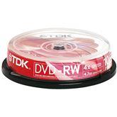 Диски DVD-RW, TDK / 4,7GB / 10 шт