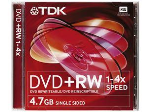 Diski DVD-RW, TDK / 4,7GB / 1 gab