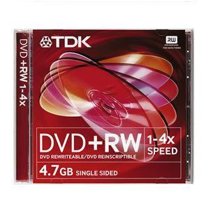 Diski DVD+RW, TDK / 4,7GB / 1 gab