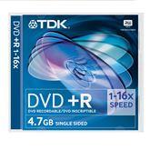 Диски DVD+R, TDK / 4,7GB / 1 шт