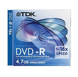 Disc DVD-R, TDK / 4,7GB / 1 psc