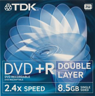 Diski DVD+R, DL, TDK / 4,7GB / 1 gab