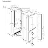 Iebūvējams ledusskapis  FrostFree, Electrolux / augstums: 178cm