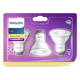 LED spuldze, Philips / GU10, 345 lm / 3 gab.