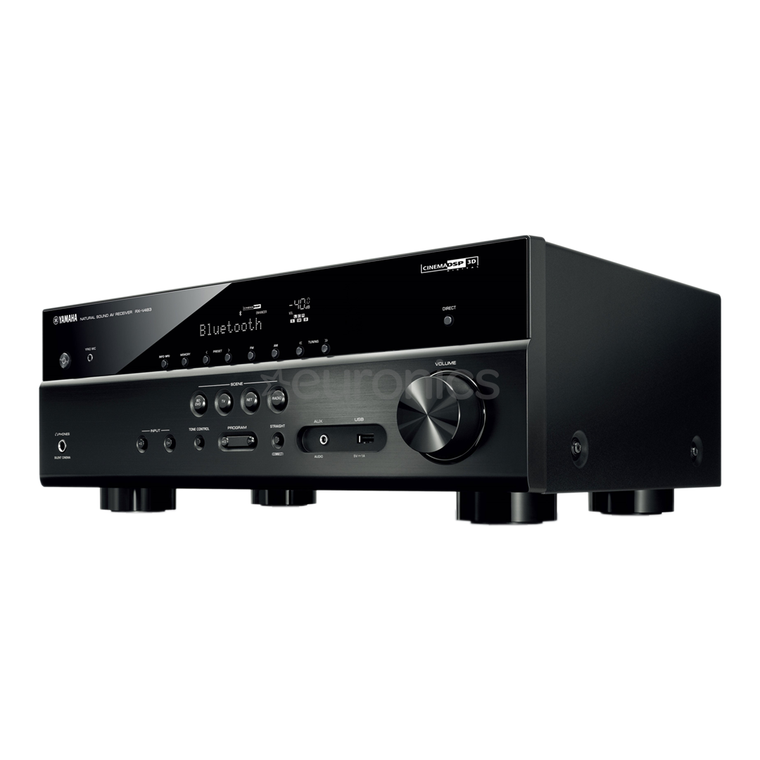 5 1 av receiver yamaha rx v483. Black Bedroom Furniture Sets. Home Design Ideas