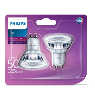 LED spuldze GU10, Philips / 2 gab.