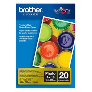 Foto papīrs Photo Paper Glossy, Brother / 10x15 , 260 g/m2, 20 lpp