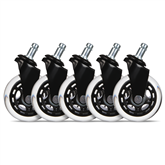 Rubber wheels for gaming chair EL33T