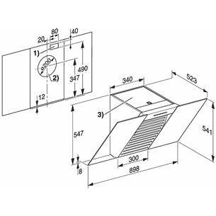 Tvaika nosūcējs Miele / 650 m³/h