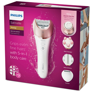 Epilators Satinelle Prestige Wet and dry, Philips
