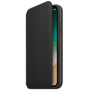 Ādas apvalks folio priekš iPhone X, Apple